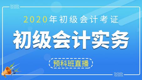 2020年初级会计实务预科班第一讲