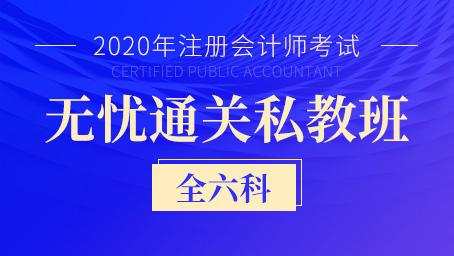 2020年注册会计师通关私教班(全六科)