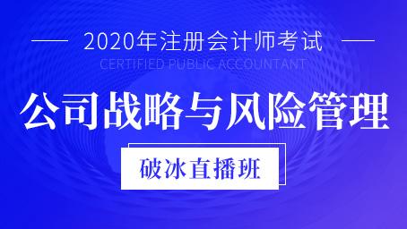 2020年注会战略与风险管理破冰班第二讲